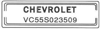 Decoding the tri five chevys 55 56 57 passenger car vin vintagg 25027 bytes sciox Choice Image